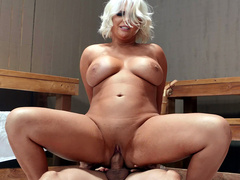 Busty Kristina Shannon Cowgirl Riding Alex Legend In The Sauna