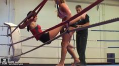 Nelly Sullivan & Cathy Heaven – Big Boobs In The Nude Fight Club