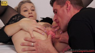 Mature Woman Gets Her Pussy Gaped And Fucked Hard – Mature Gapers
