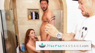 NuruMassage Redhead Lacy Lennon Almost Caught Cheating