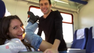 Amateur Couple Fucking On A Train With Facial – MySweetApple