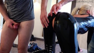 Hardcore Latexbitch MMF 3LochFick Sperma-Battle | DAYNIA